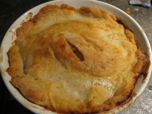 Rabbit Pie with Suet Crust, Pancetta and Leeks